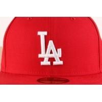 Afbeelding van New Era 10047498 Fitted cap MLB basic LA Dodgers Rood