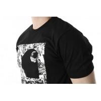 Afbeelding van Carhartt WIP I024755-89 T-shirt C collage Zwart