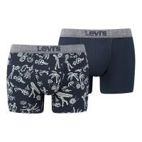 Afbeelding van Levi's Bodywear 985008001-058 Boxershort 200SF ind hawaiian skull print boxer brief 2p Blauw
