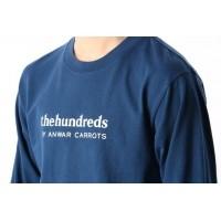 Afbeelding van The Hundreds X Carrots By Anwar L17W301003 Longsleeve Wordmark Blauw