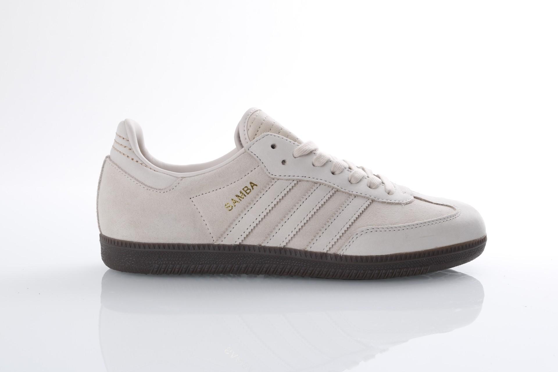 Foto van Adidas Originals CQ2090 Sneakers Samba fb Linen/linen/gold metallic
