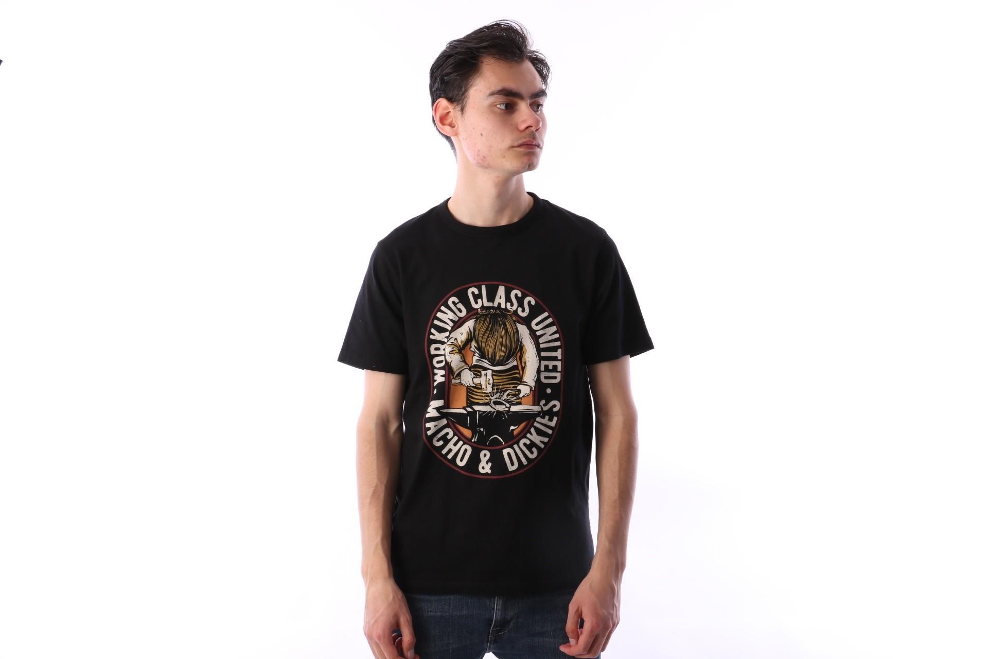 Foto van Dickies 06 210587-BK T-shirt Old ocean Zwart