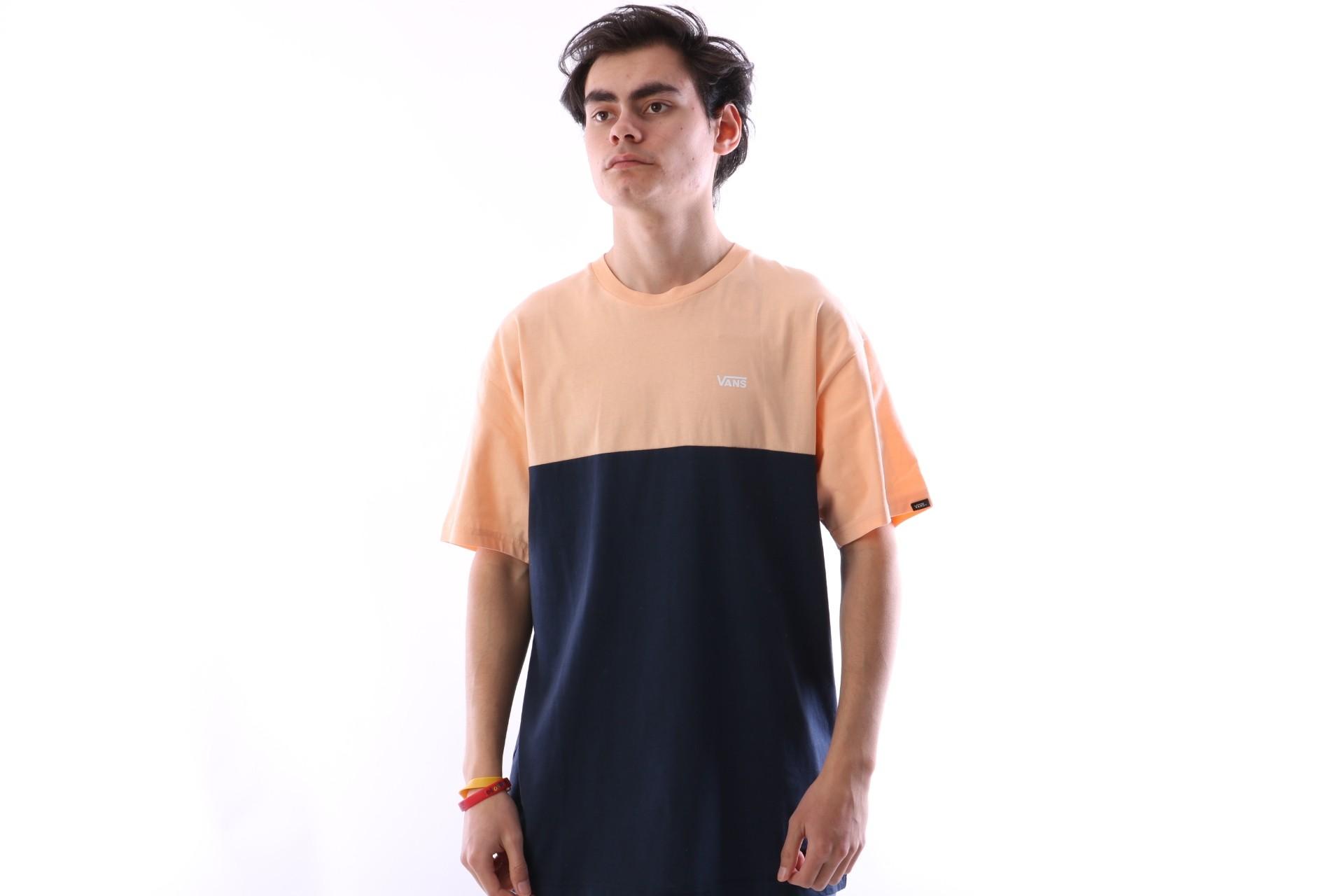 Foto van Vans VA3CZD-PGH T-shirt Colorblock Apricot ice/dress blues