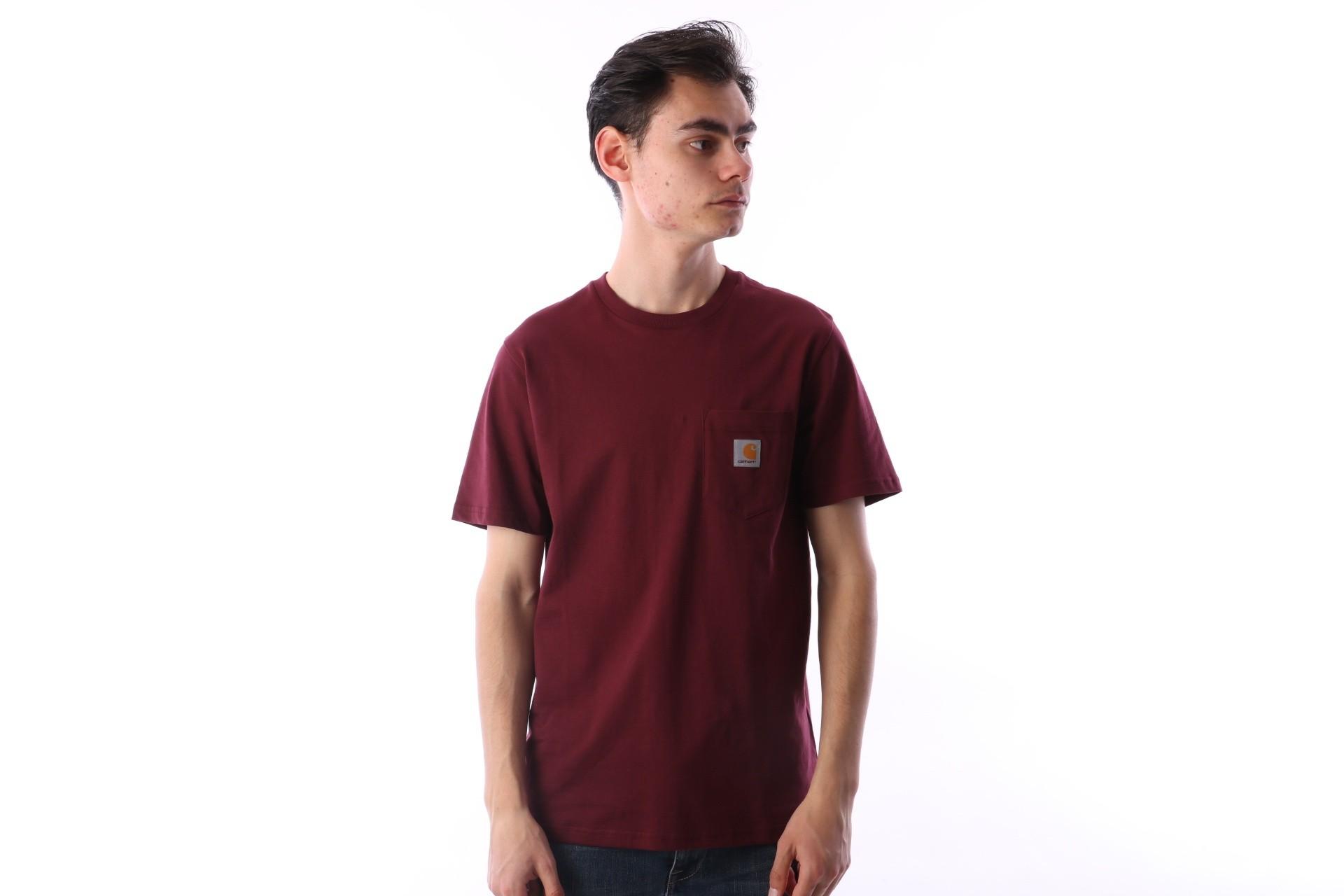 Afbeelding van Carhartt WIP I022091-619 T-shirt Pocket Rood