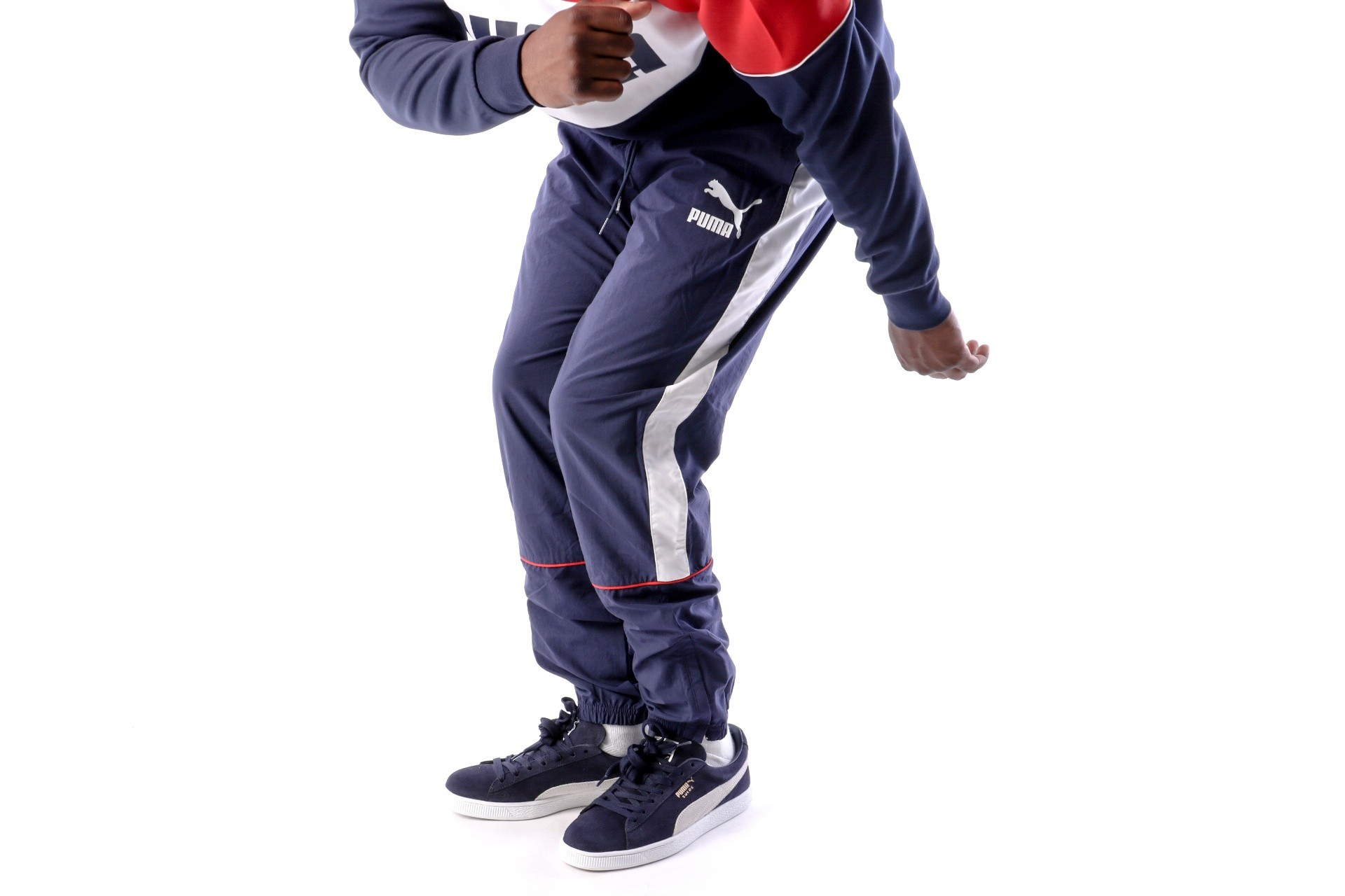 Foto van Puma Retro Woven Pants 576377 Track Pant Blue-Red-White