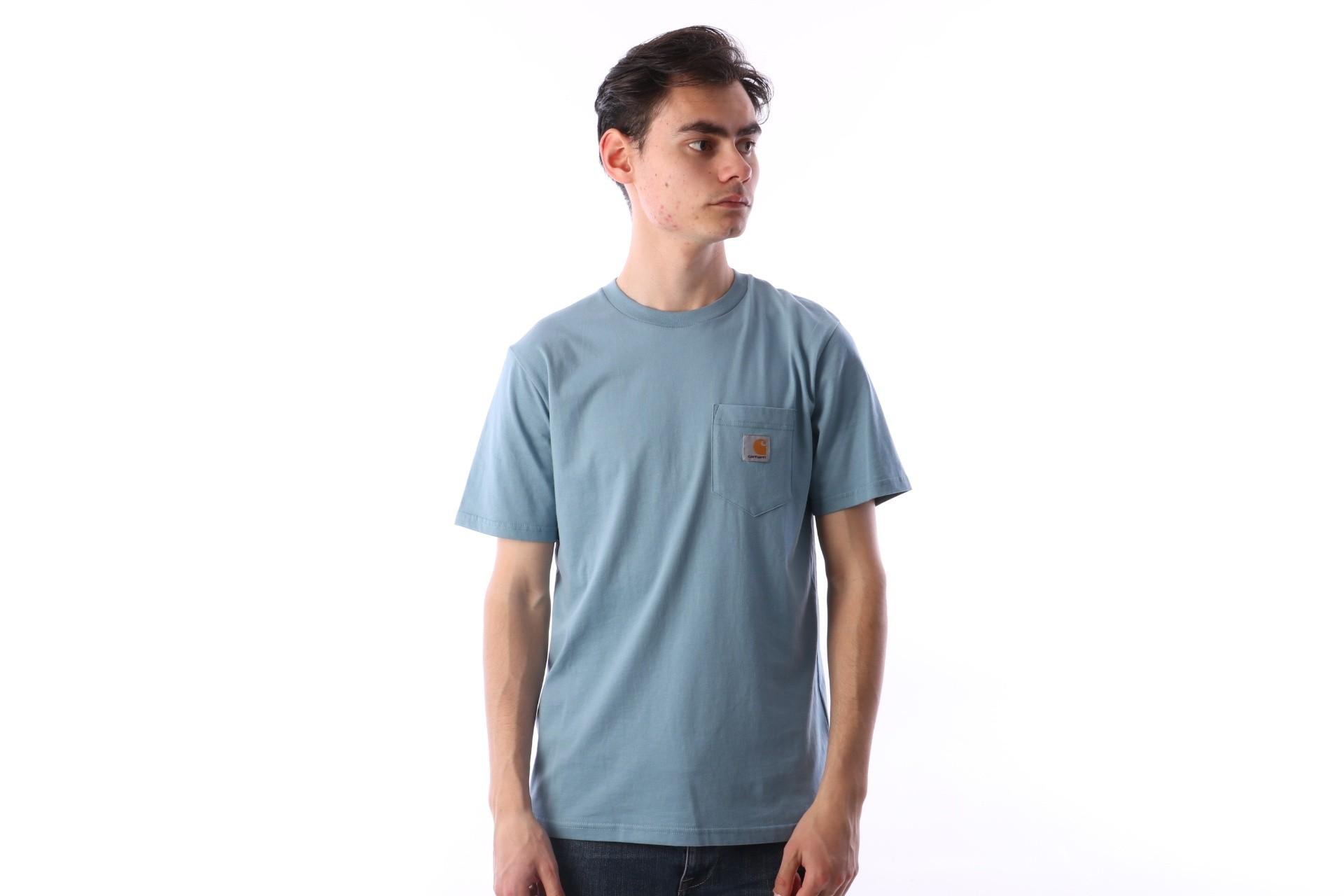Foto van Carhartt WIP I022091-975 T-shirt Pocket Blauw