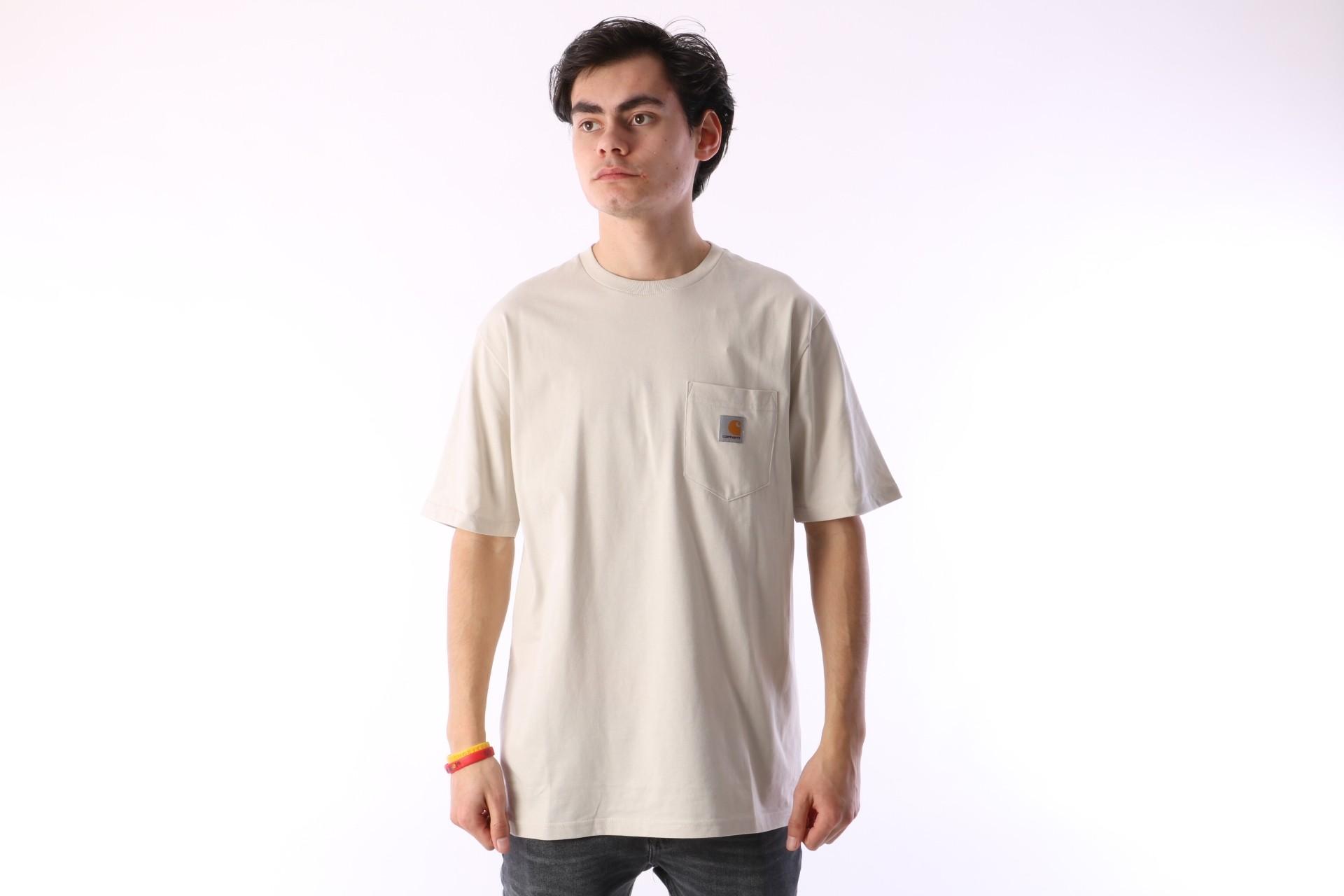 Foto van Carhartt WIP I022091-961 T-shirt Pocket Bruin