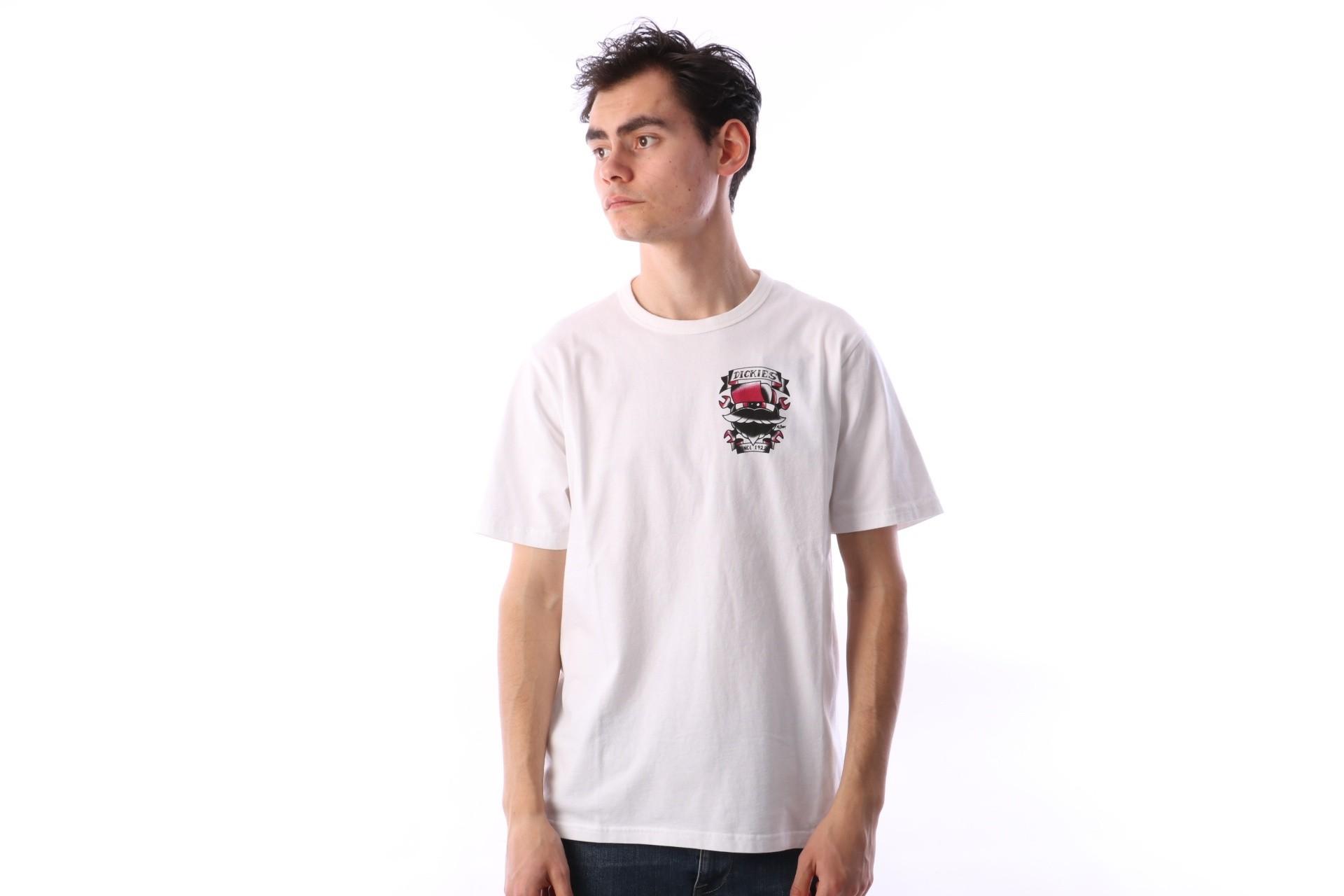 Foto van Dickies 06 210588-WH T-shirt Ore city Wit
