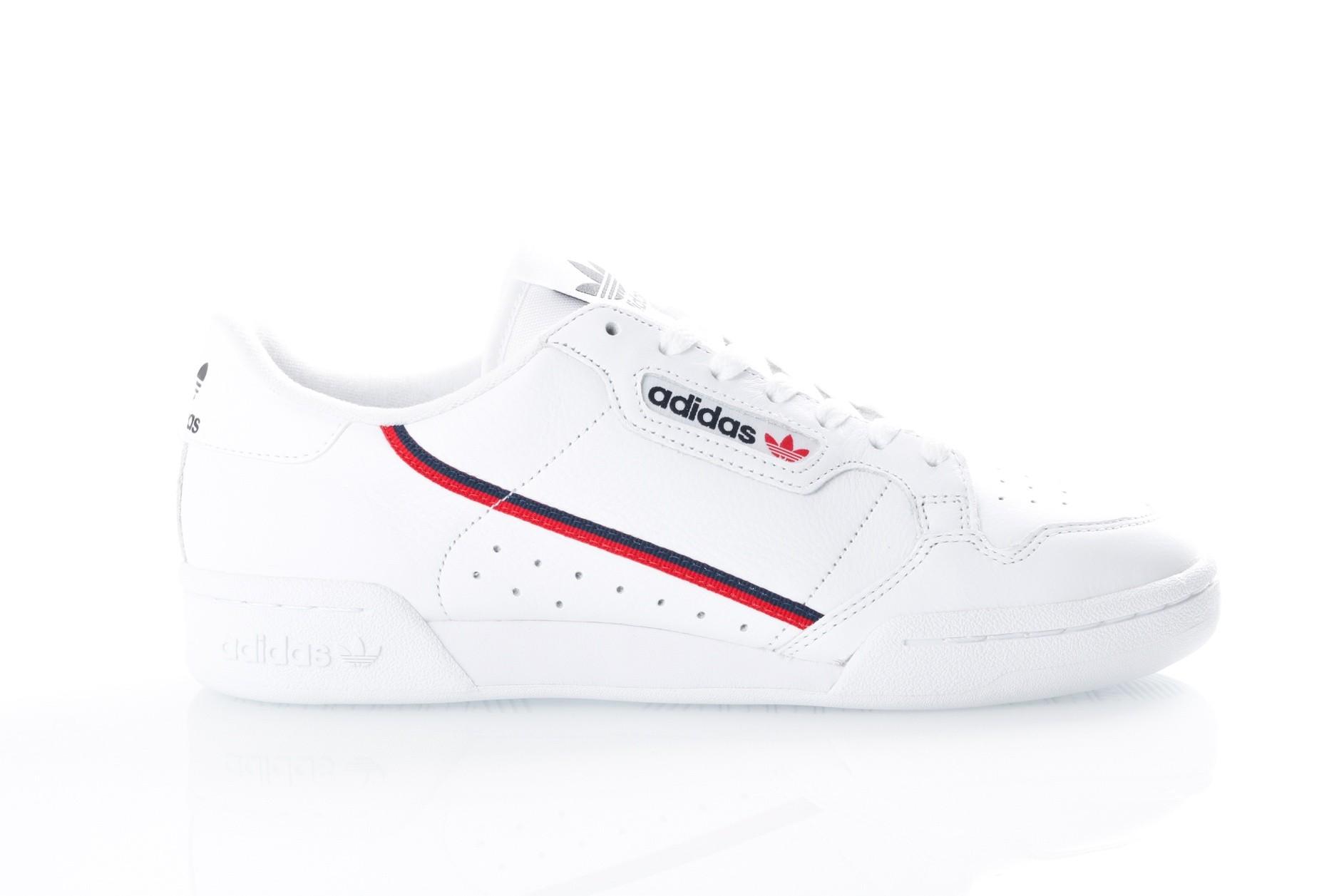Foto van Adidas Continental 80 B41674 Sneakers FTWR WHITE/SCARLET/COLLEGIATE NAVY