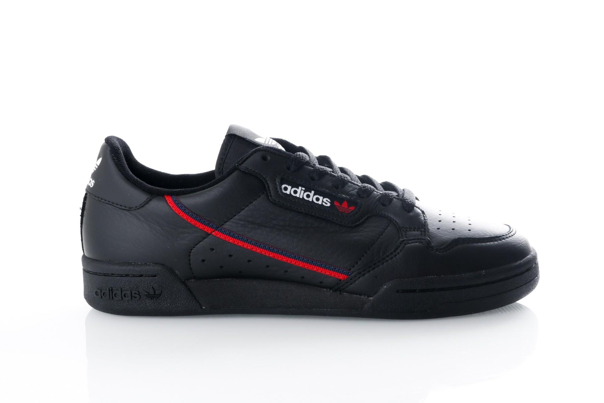 Foto van Adidas Continental 80 B41672 Sneakers CORE BLACK/SCARLET/COLLEGIATE NAVY