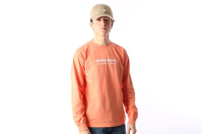 Afbeelding van The Hundreds X Carrots By Anwar L17W301003 Longsleeve Wordmark Roze