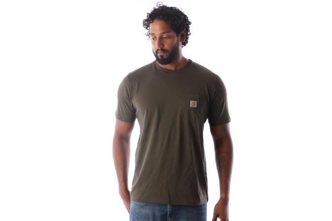 Foto van Carhartt WIP I022091-6300 T-shirt Pocket Groen
