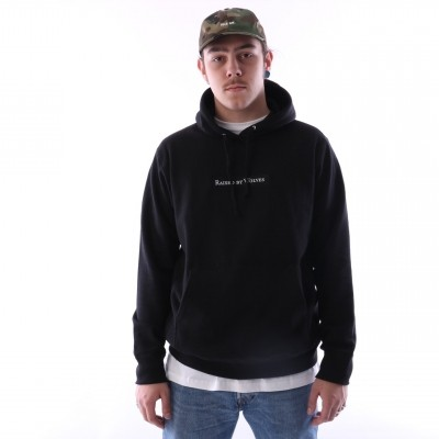 raised by wolves box logo hooded sweatshirt Black French Terry
