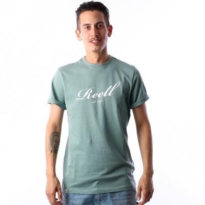 Reell T-shirt Big script Groen
