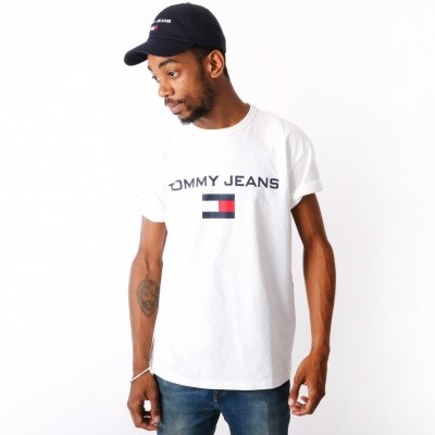 Tommy Jeans 90s Logo Tee T-shirt Bright White DM0DM05234-113