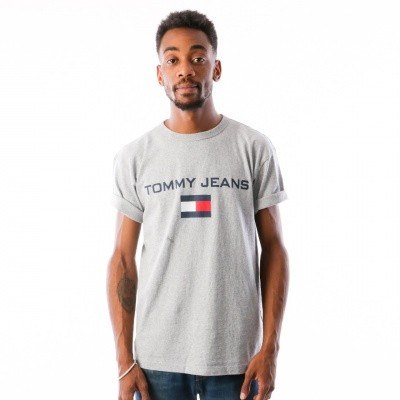 Tommy Jeans 90s Logo Tee T-shirt Light Grey Heather DM0DM05234-000
