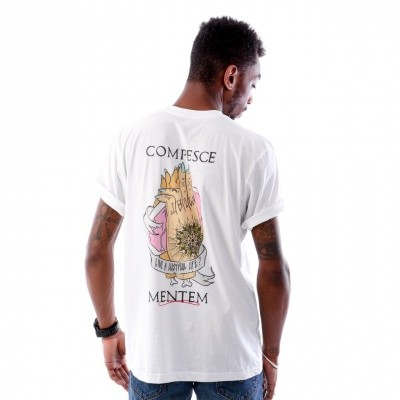 New Alpha 013 Compesce Mentem T shirt 013RES-101 Virgin White / Multi