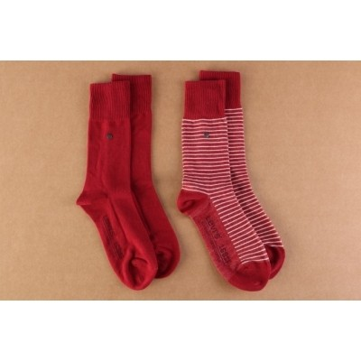Levi's Bodywear 943006001-072 Socks 168SF regular cut stripe 2-pack Rood