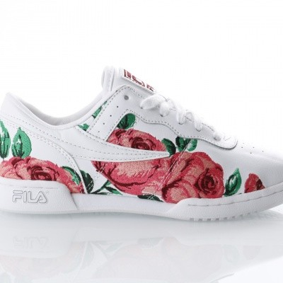 Fila Ladies 5FM00014-155 Sneakers Original fitness embroidery Wit
