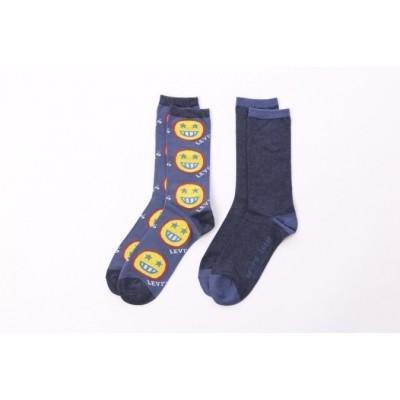 Levi's Bodywear 973031001-321 Socks 168SF Regular cut smile 2P Blauw