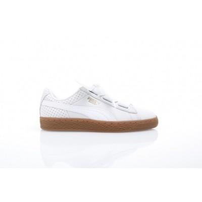 Puma Ladies 366809-01 Sneakers Basket heart perf gum Wit