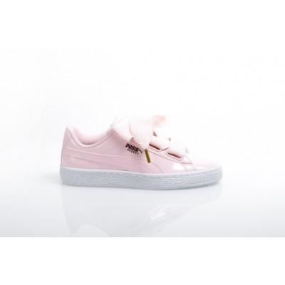 Puma Ladies 363073-14 Sneakers Basket heart patent Grijs