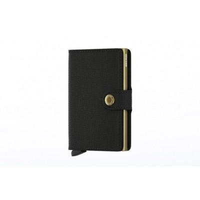 Secrid MC-BLACK-GOLD Wallet Miniwallet crisple Zwart