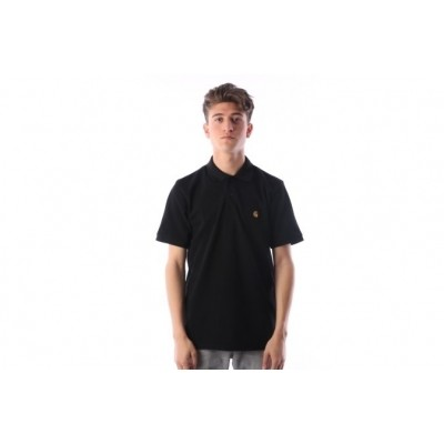 Carhartt WIP I023807-8990 Polo shirt Chase Zwart