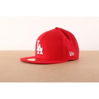 New Era 10047498 Fitted cap MLB basic LA Dodgers Rood