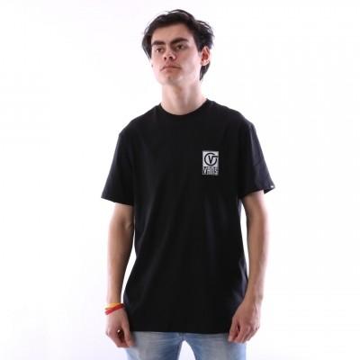 Vans VA3HA9-BLK T-shirt Vans worldwide Zwart