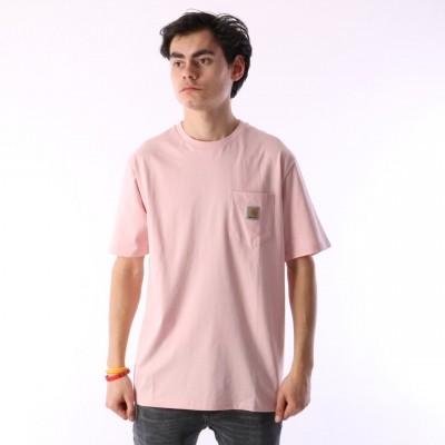Carhartt WIP I022091-971 T-shirt Pocket Roze
