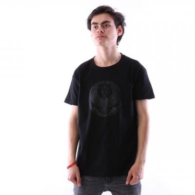 Pharaoh Official T-shirt Black on black Zwart