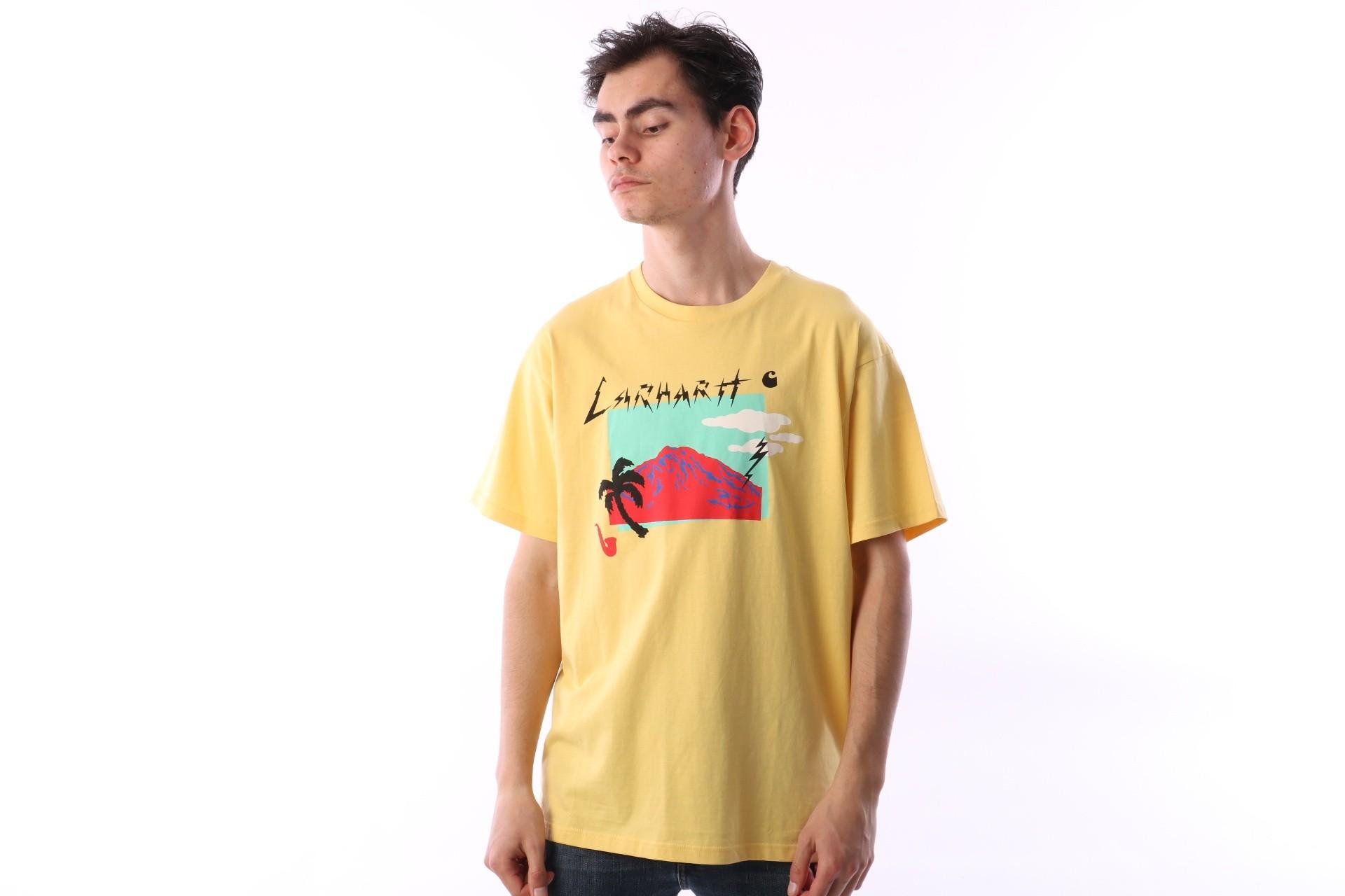 Foto van Carhartt WIP I024687-957 T-shirt Anderson Citrine