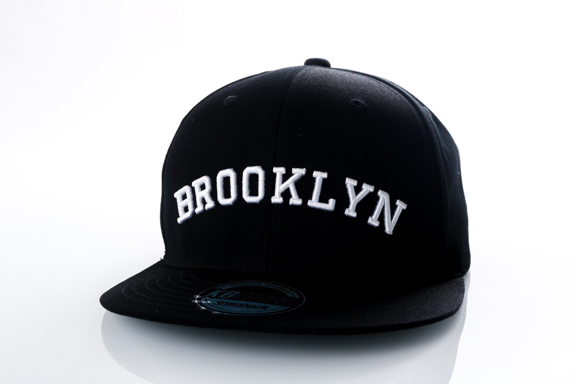 Foto van Ethos Brooklyn KBN-500BN black/black/white KBN-500BN dad cap black/black/white