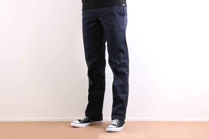 Foto van Dickies Workwear WP873-DN Chino Slim straight Blauw