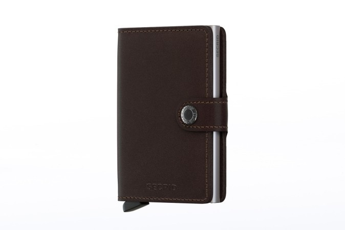 Foto van Secrid M-DARK BROWN Wallet Miniwallet original Bruin