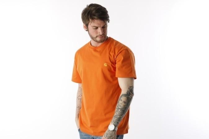 Foto van Carhartt WIP I021949-963 T-shirt Chase Jaffa/gold