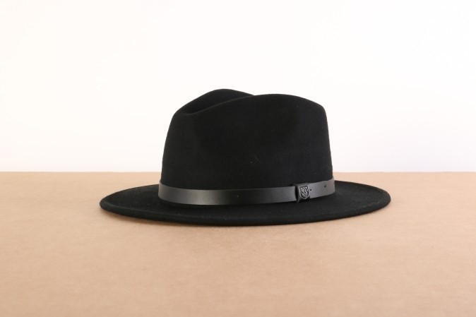 Foto van Brixton 00136-BKBLK Hat Messer Zwart
