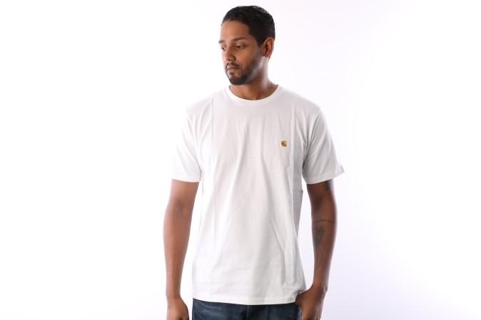 Foto van Carhartt WIP I021949-0290 T-shirt Chase Wit