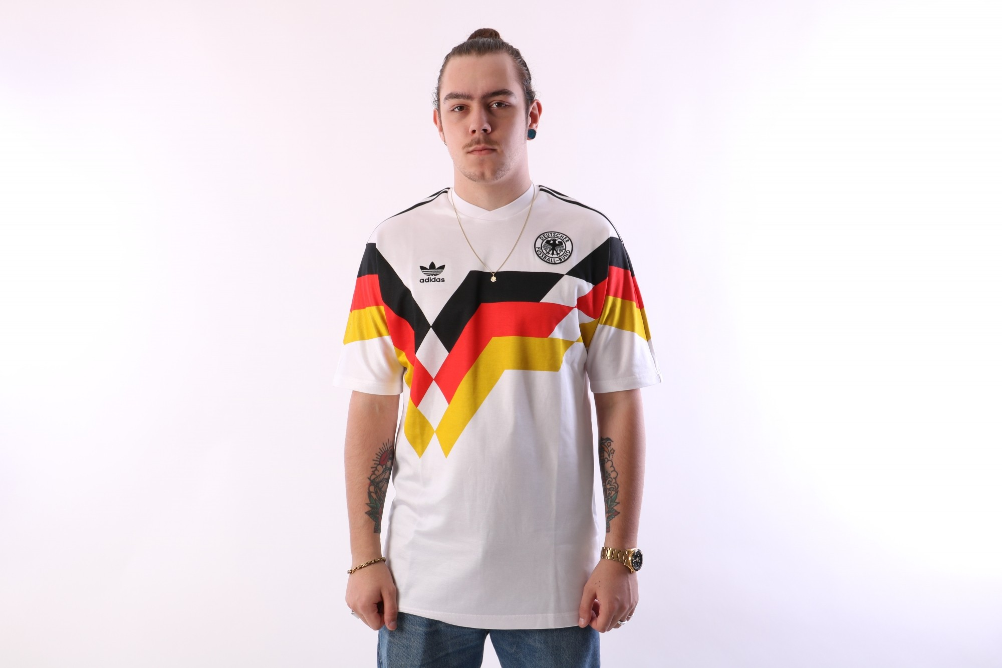 Foto van Adidas Originals CE2343 Jersey Germany Wit