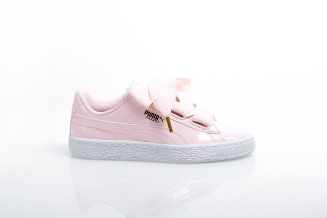 Afbeelding van Puma Ladies 363073-14 Sneakers Basket heart patent Grijs