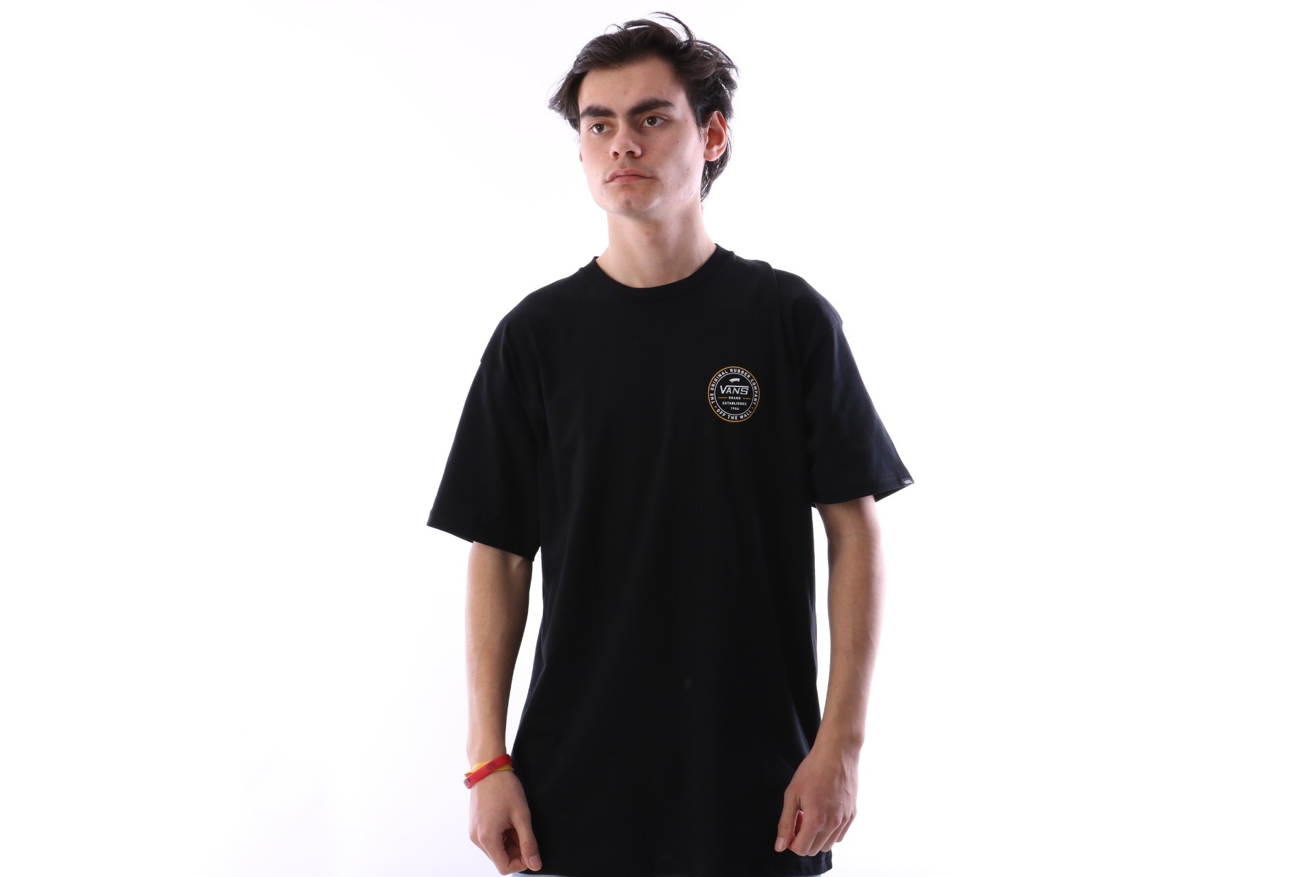 Foto van Vans VA3H71-BLK T-shirt Established 66 Zwart