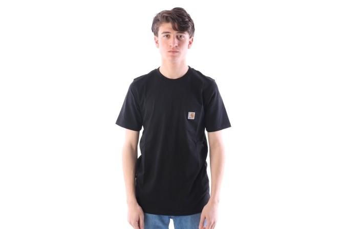 Foto van Carhartt WIP I022091-8900 T-shirt Pocket Zwart