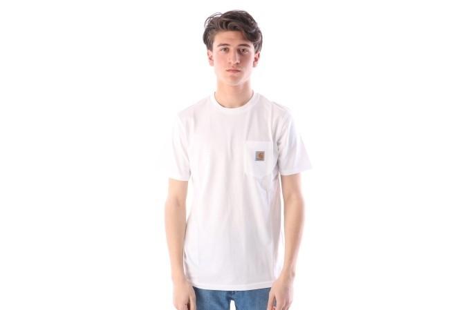 Foto van Carhartt WIP I022091-0200 T-shirt Pocket Wit