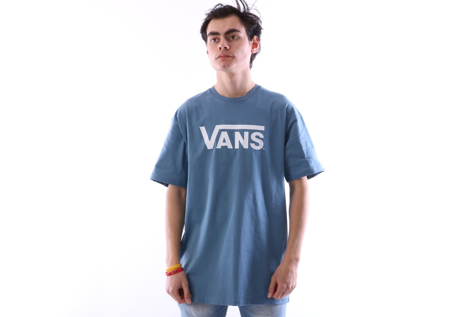 Foto van Vans V00GGG-PII T-shirt Vans classic Blauw