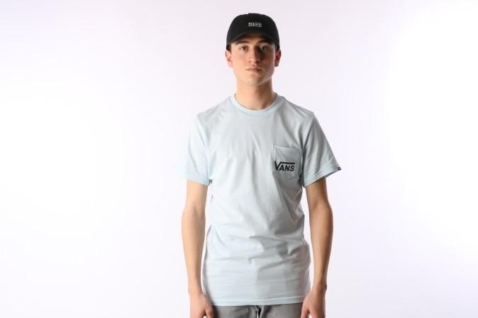 Foto van Vans VA2YQV-689 T-shirt Otw classic Blauw
