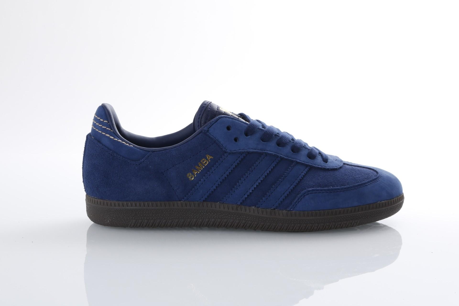 Foto van Adidas Originals CQ2089 Sneakers Samba fb Blauw