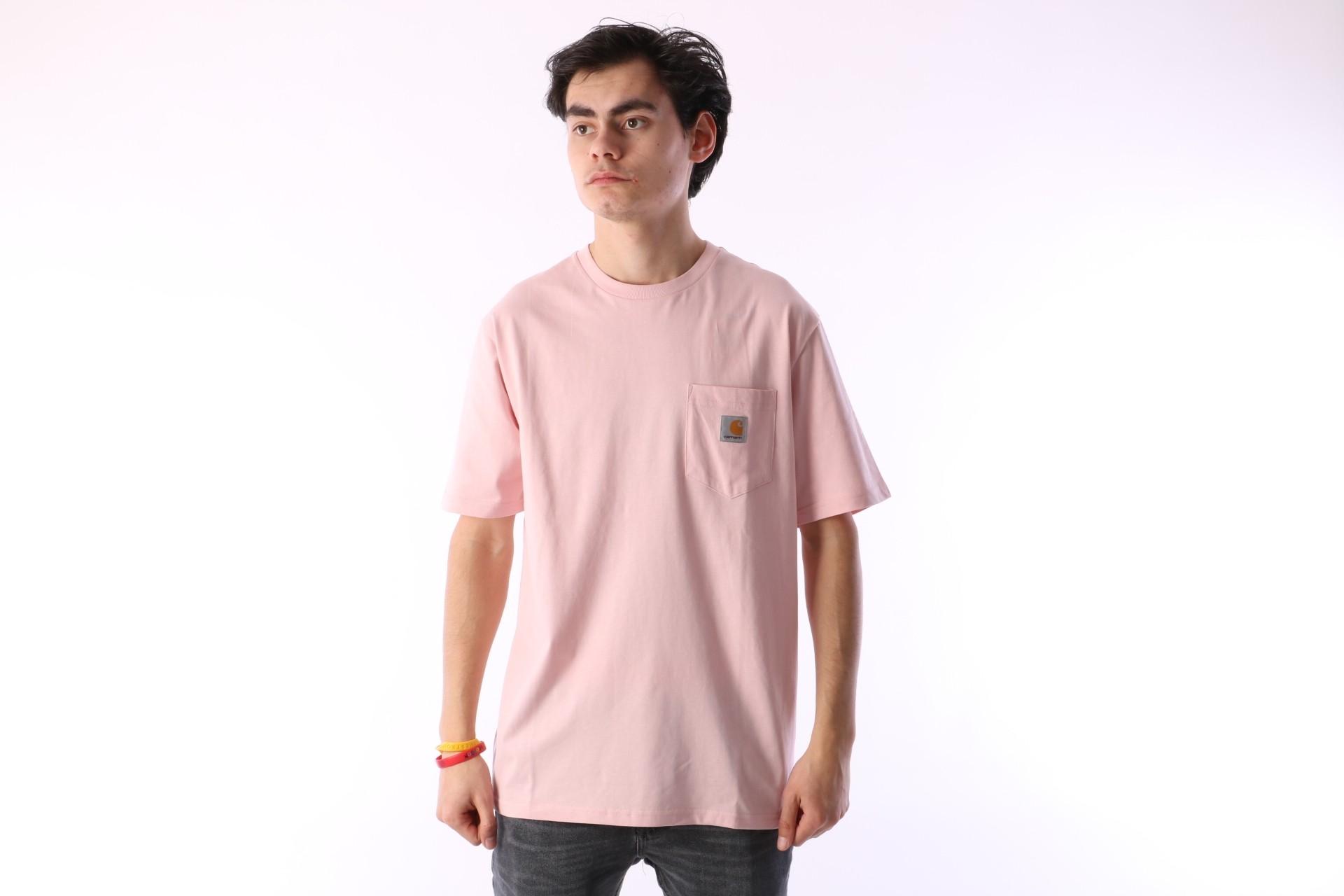 Foto van Carhartt WIP I022091-971 T-shirt Pocket Roze