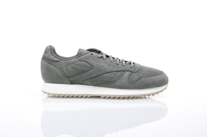 Foto van Reebok BS7852 Sneakers Cl leather ripple w Groen