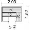 Afbeelding 34 van Azalp Elementsauna 203x152 cm, vuren